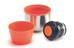 Termo Esbit 750 ml de acero inoxidable gris/naranja